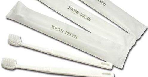 使い捨て歯ブラシ